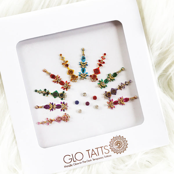 ALL NEW GLO Bindi Maha मह Festival Face Gems - GLO TATTS  - 1