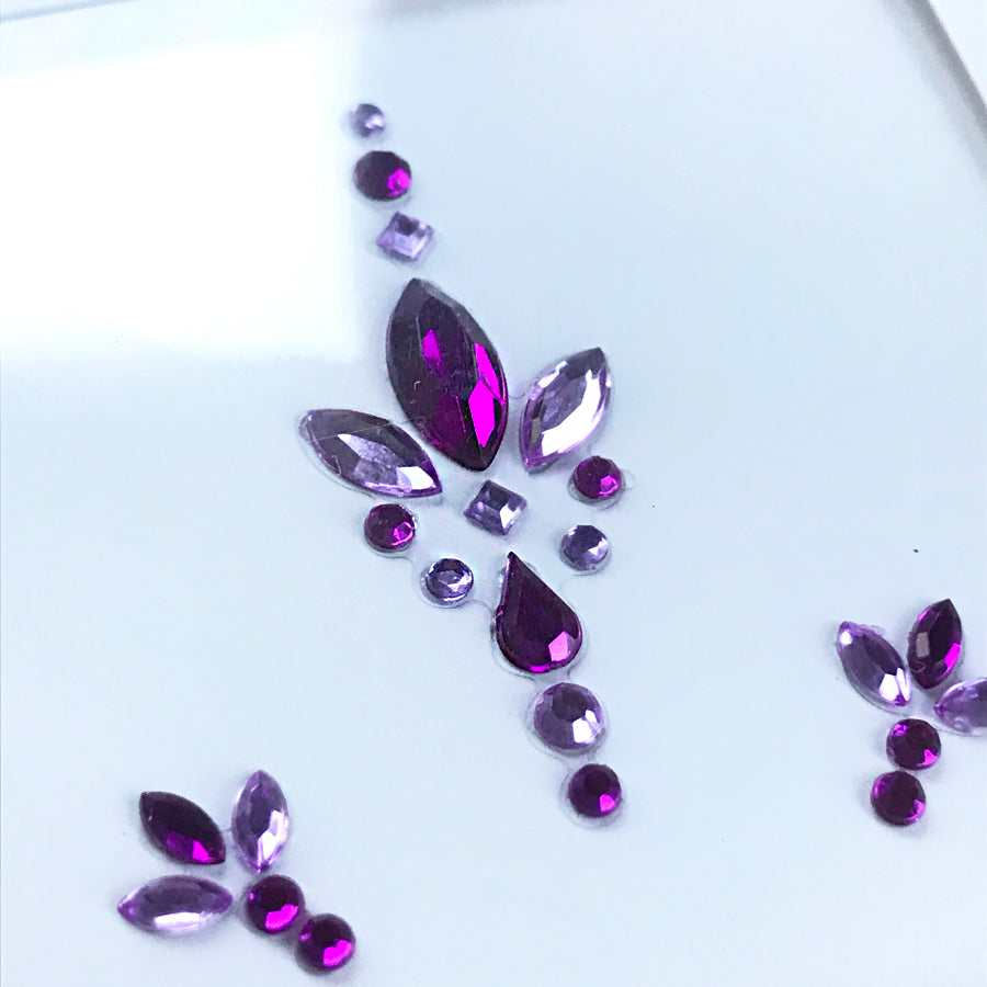 All-in-one GLO Bindi Face Gems - Purple please