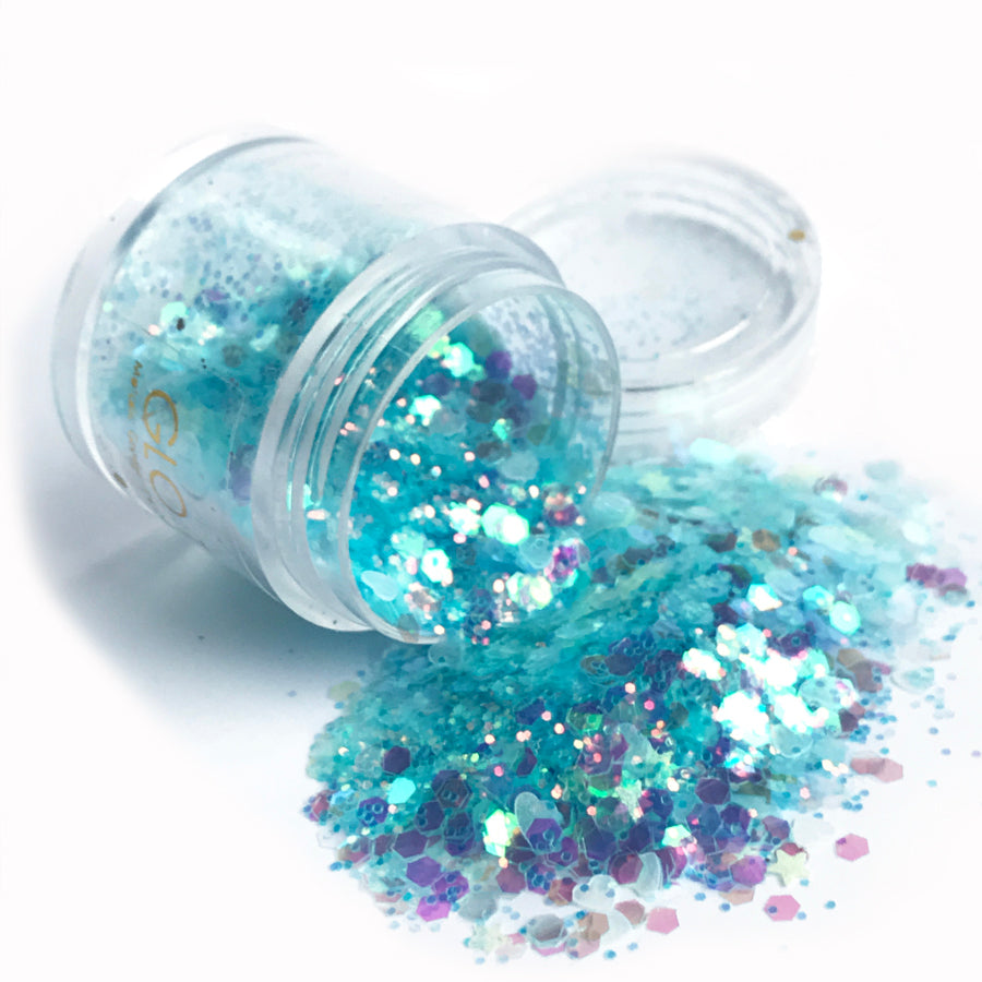 Glow in the Dark Glitter - Luna Blue