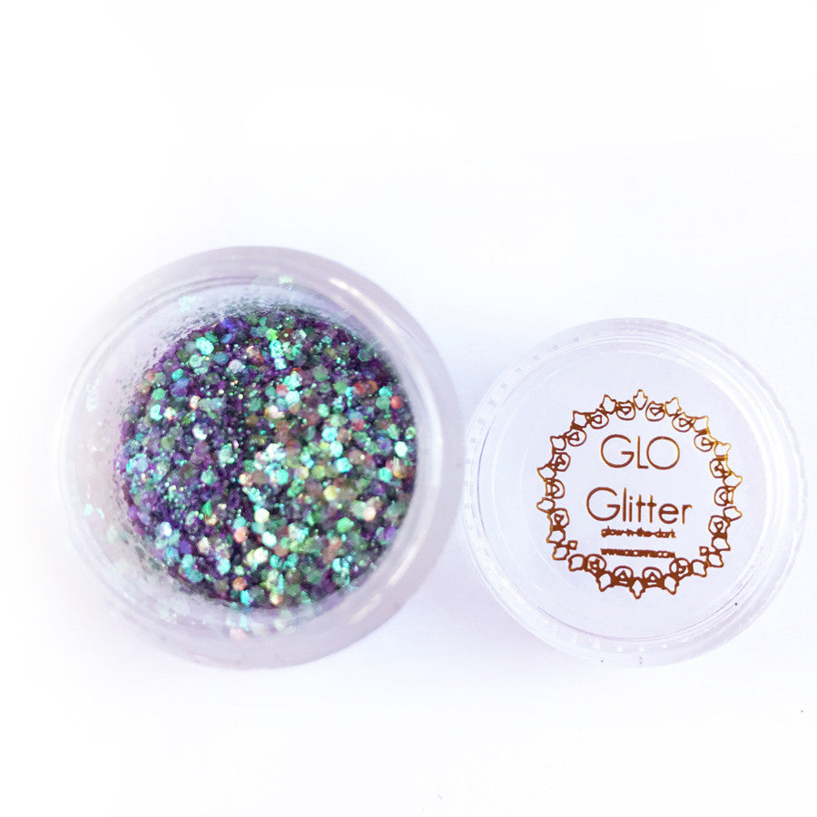 Glow in the Dark Glitter - Mermaid Tail - GLO TATTS  - 1