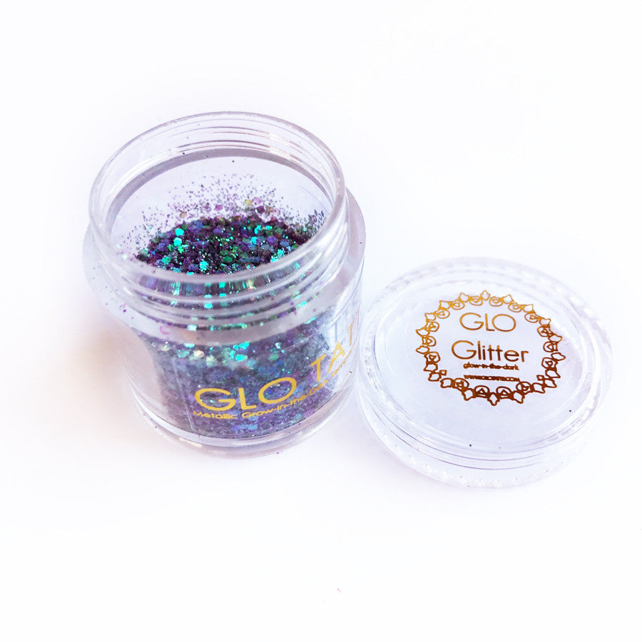 Glow in the Dark Glitter - Mermaid Tail - GLO TATTS  - 4