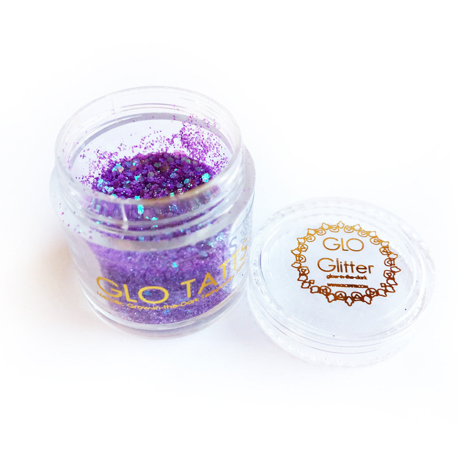 Glow in the Dark Glitter - Purple Haze - GLO TATTS  - 7