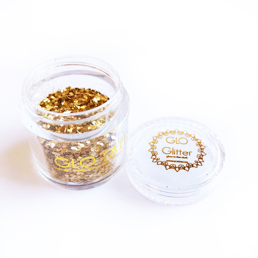 Glow in the Dark Glitter - Gold Glitz - GLO TATTS  - 7