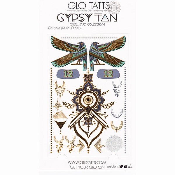 Limited Edition GYPSY TAN x GLO TATTS Metallic Temporary Tattoos - GLO TATTS  - 6