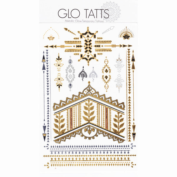 GLO TATTS® INKA Pack metallic glow in the dark temporary tattoos - GLO TATTS  - 7