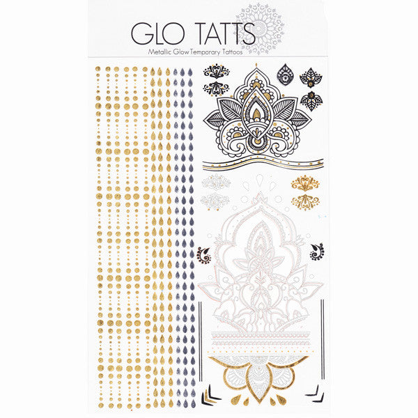 GLO TATTS® Legs Eleven Pack Metallic Temporary Tattoos - GLO TATTS  - 8