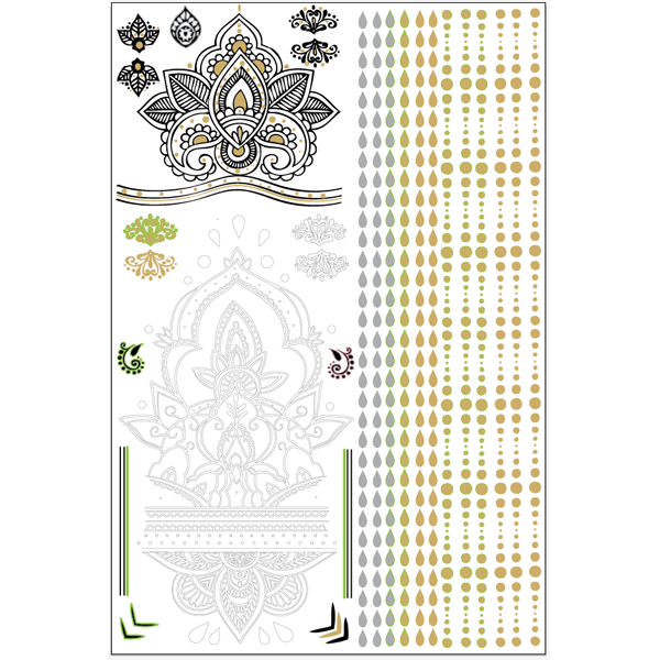 GLO TATTS® Legs Eleven Pack Metallic Temporary Tattoos - GLO TATTS  - 7