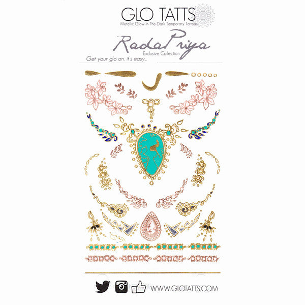 Limited Edition GLO TATTS X Rada Priya Designs Pack - GLO TATTS  - 8