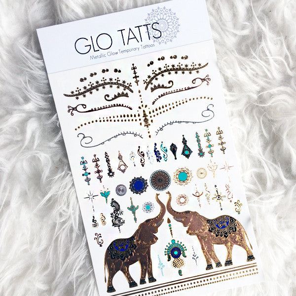 GLO TATTS® SITA Pack Metallic Glow Temporary Tattoos - GLO TATTS  - 1