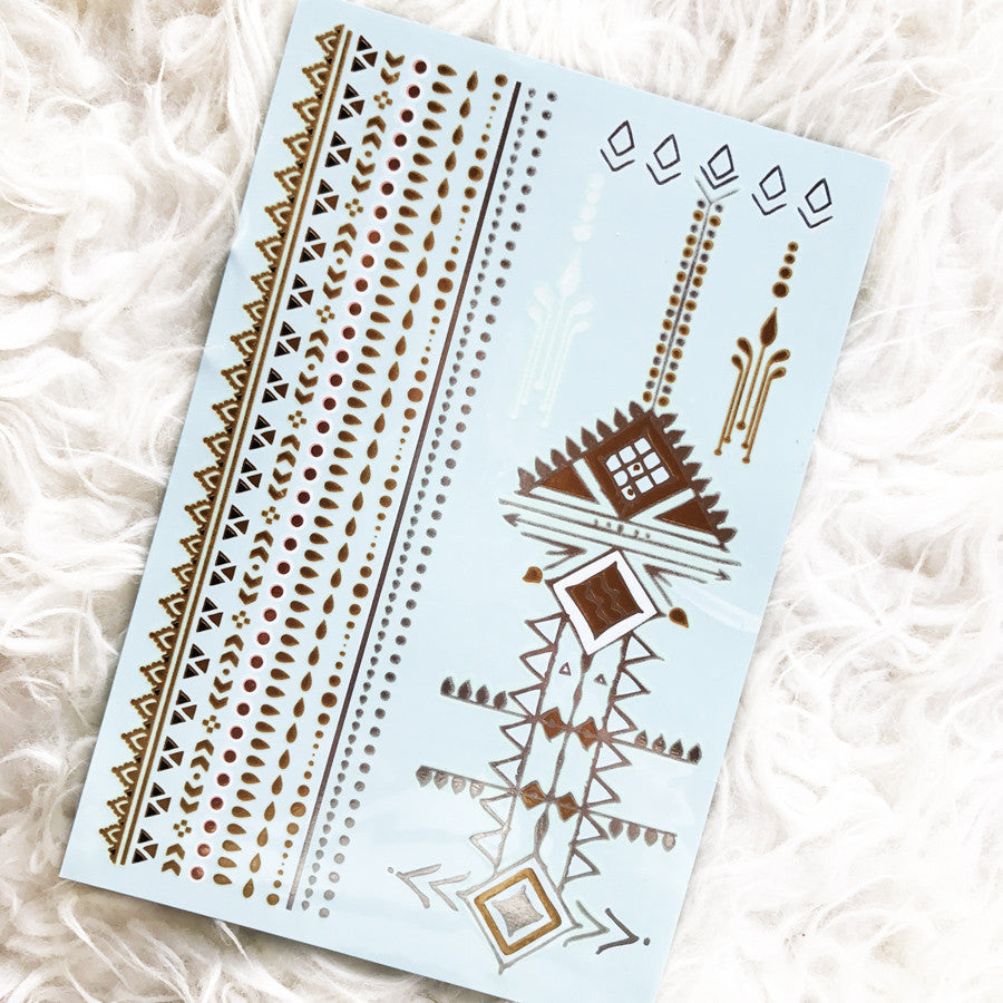 ALL NEW! GLO TATTS® SPLENDOUR Metallic Glow Temporary Tattoos