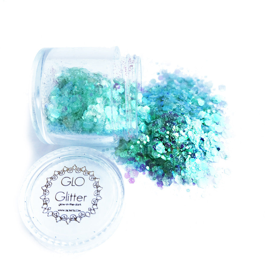 ALL NEW Glow in the Dark Glitter - Siren Scale
