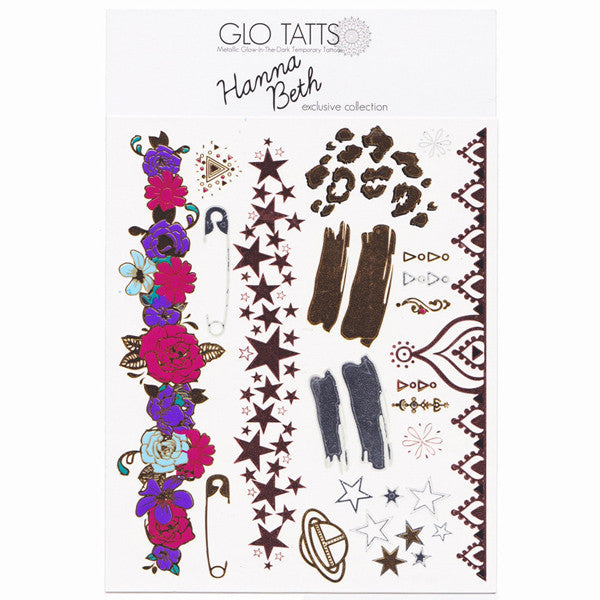 Exclusive Hanna Beth X GLO TATTS® Metallic Tattoos - BONUS sheet - GLO TATTS  - 9