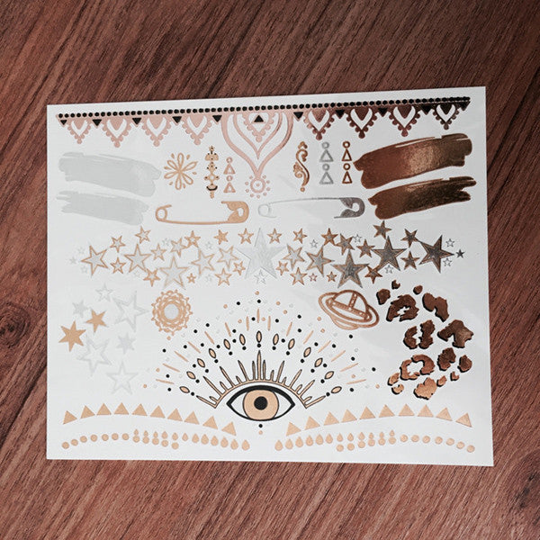 Exclusive Hanna Beth X GLO TATTS® Metallic Tattoos - BONUS sheet - GLO TATTS  - 6