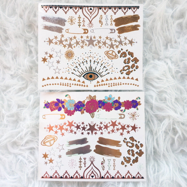 Exclusive Hanna Beth X GLO TATTS® Metallic Tattoos - BONUS sheet - GLO TATTS  - 4