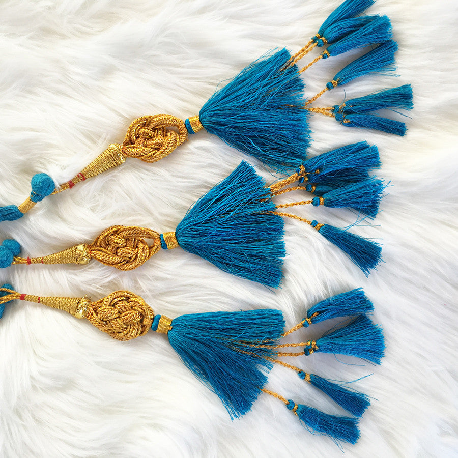GLO Paranda - Indian Hair Braid Turquoise - GLO TATTS  - 3