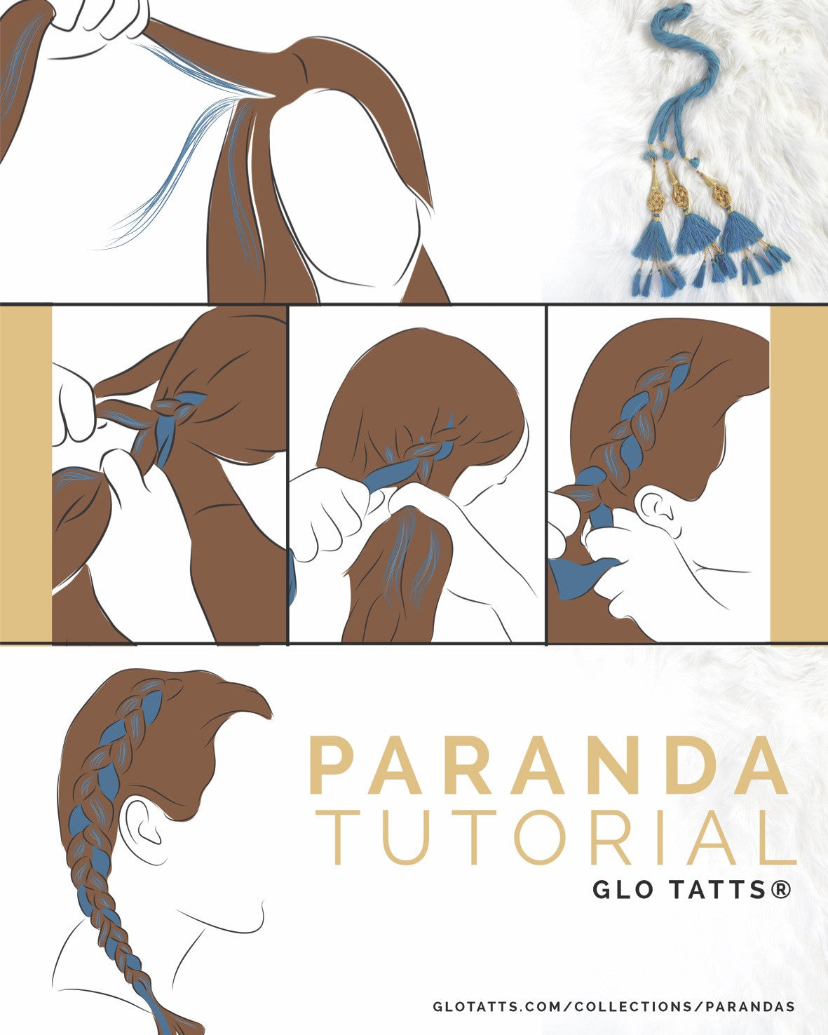 GLO Paranda - Indian Hair Braid Turquoise