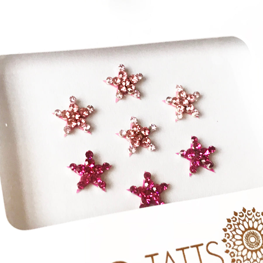 ALL NEW GLO Bindi 'She's a Star' PINK crystal stars