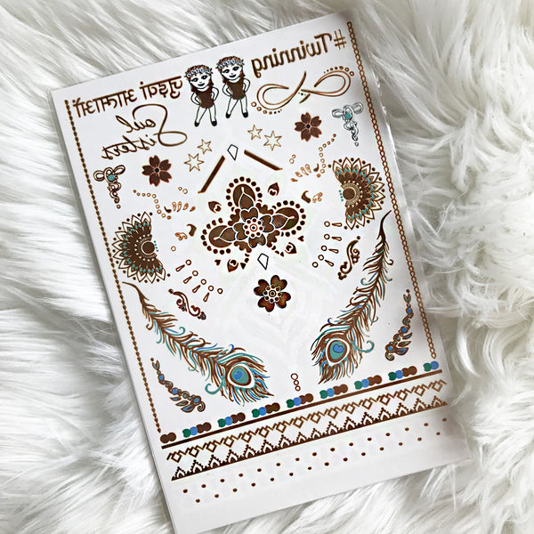 All NEW TWINNING 👯 GLO TATTS® Metallic Glow Temporary Tattoo