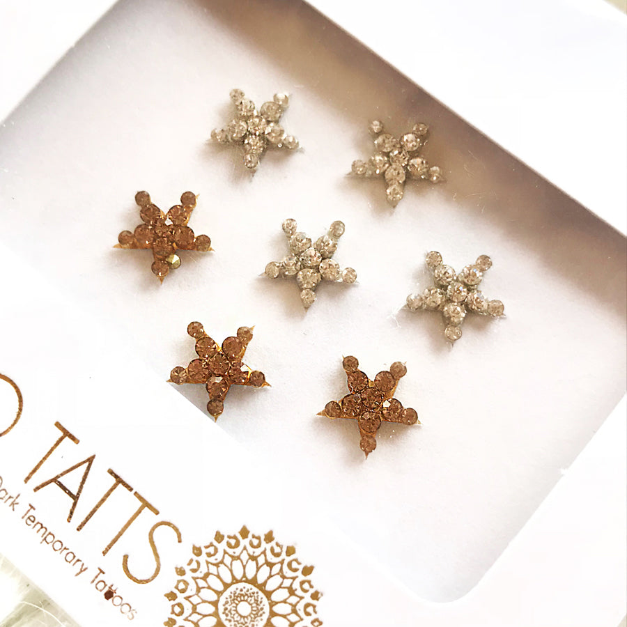 GLO Bindi 'She's a Star' Gold & Silver crystal stars