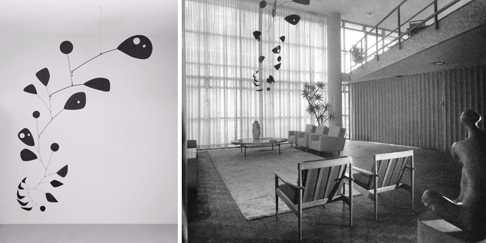 Photo credits: Alexander Calder, Black Widow, 1948, at Tate Modern (left), and at the Instituto de Arquitetos do Brasil, Sao Paulo (right) / 2015 Calder Foundation, New York / DACS, London