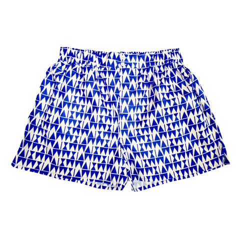 Blue Triangle Cotton Boxers
