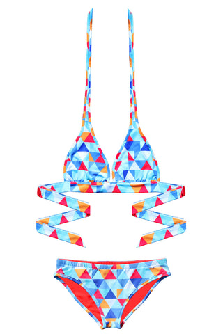 RED TRIANGLE Reversible Bikini