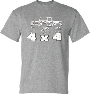 4x4 Truck with Hillbilly Good Time T-Shirt