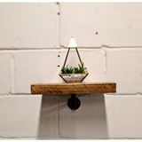 Single Rustic Pipe Shelf