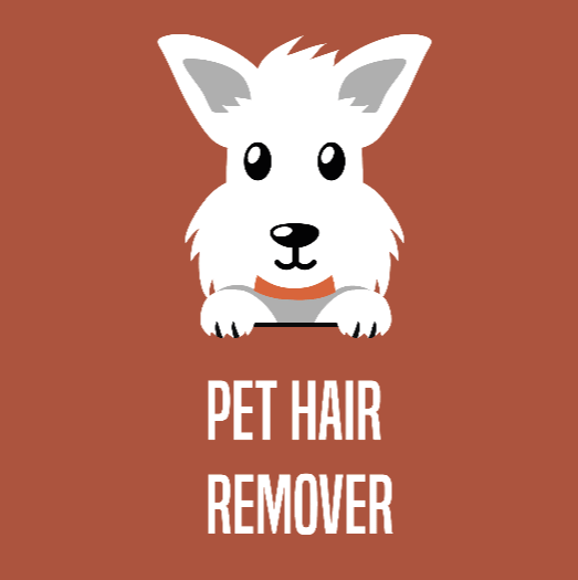 pet hair remover button with cartoon west highland terrier
