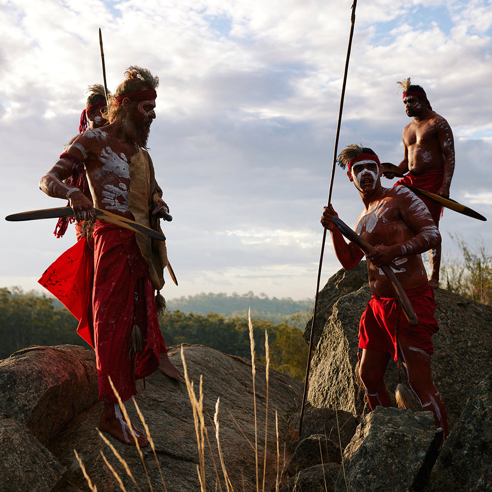First Nations Men in traditional dress