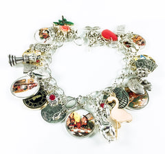 Alice in Wonderland charm bracelet - Alice and the tea party