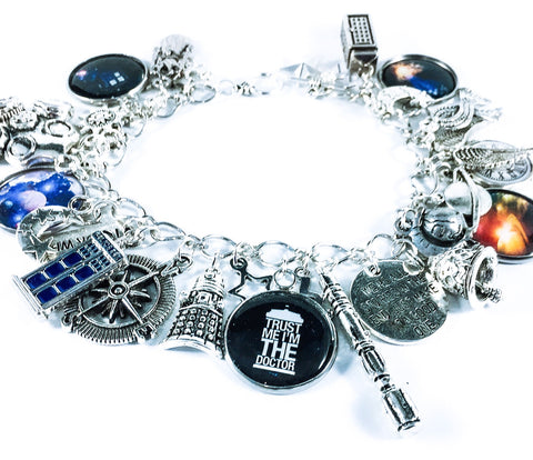 Dr Who charm bracelet - planets