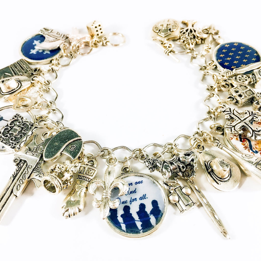 The Three Musketeers charm bracelet