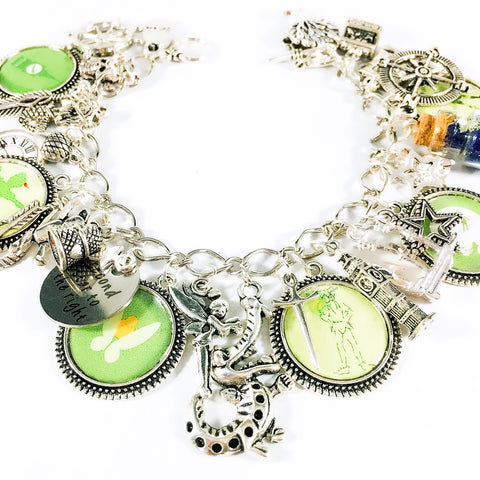 Peter Pan charm bracelet with modern cameos