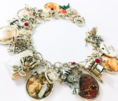 Sleeping Beauty vintage charm bracelet