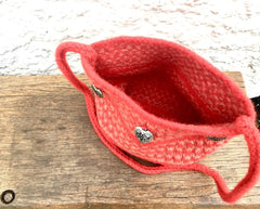 Red and pink heart shoulder bag