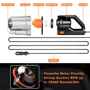 Car Vacuum, CHERYLON Portable Car Vacuum Cleaner