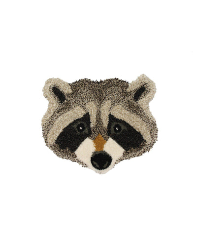 DOING GOODS - Teppich ' Rocky Racoon Head ' -