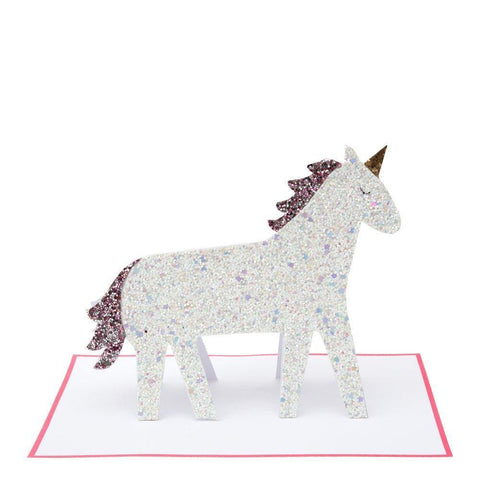 MERI MERI - Unicorn Glitter Stand-Up Card -