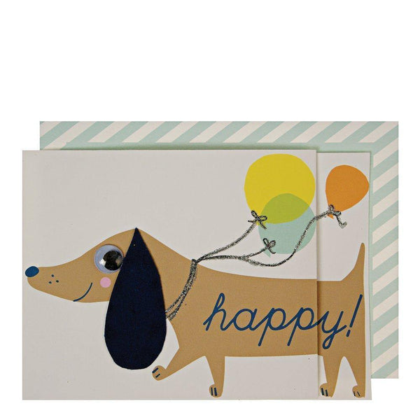 MERI MERI - Sausage Dog Concertina Card -