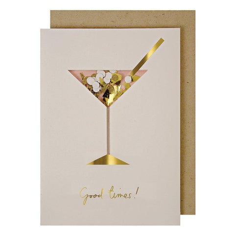 MERI MERI - Cocktail Confetti Shaker Greeting Card -