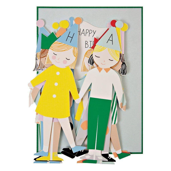 MERI MERI - Concertina Children Birthday Card -