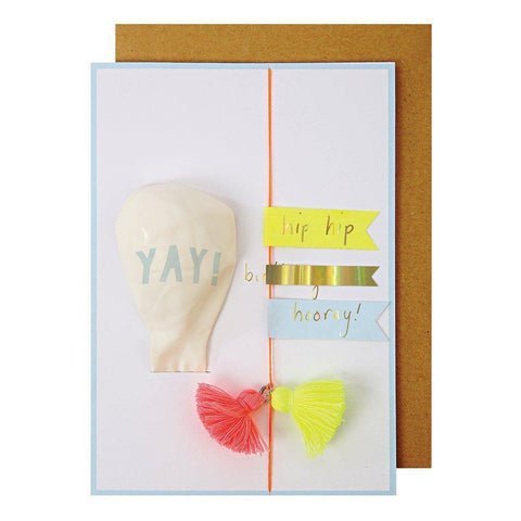 MERI MERI - Yay Balloon Greeting Card -
