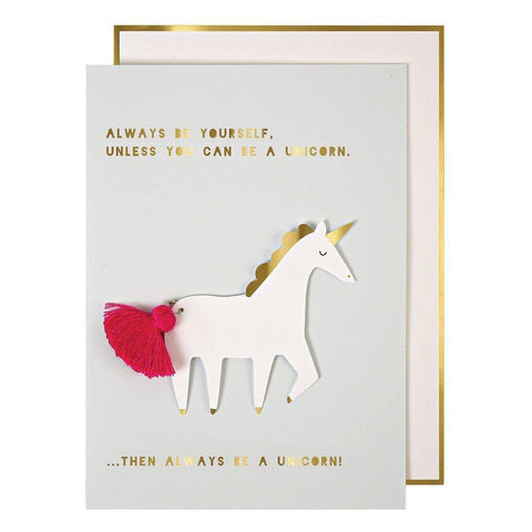 MERI MERI - Unicorn with Tassel Card -