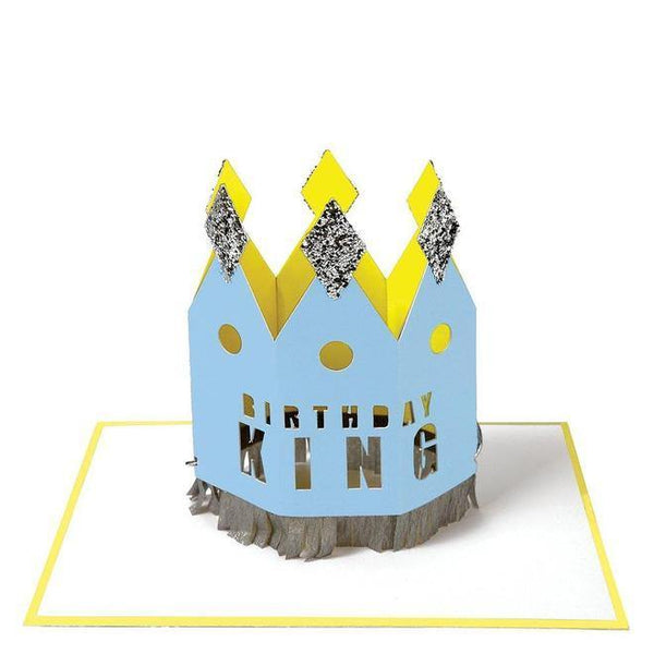 MERI MERI - Crowned Birthday King Card -