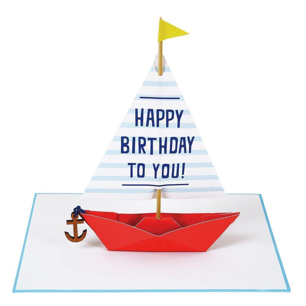 MERI MERI - Sailing Boat Stand-up with Wooden Anchor Card -