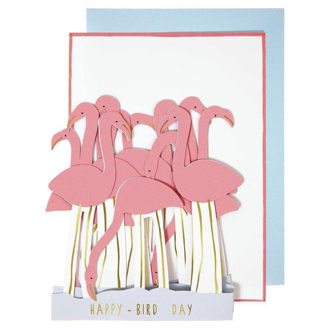 MERI MERI - Flamingo Concertina Card -