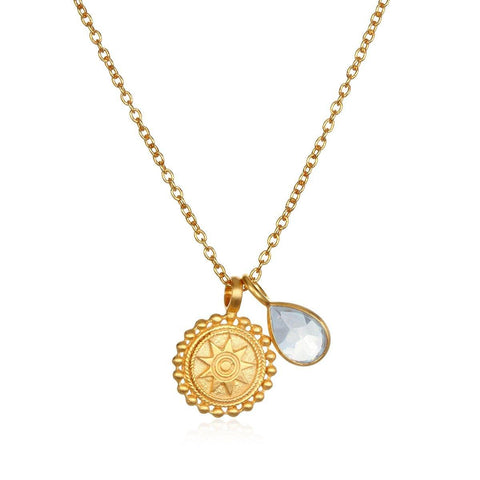 SATYA - Kette ' Mandala Birthstone Necklace - March ' -