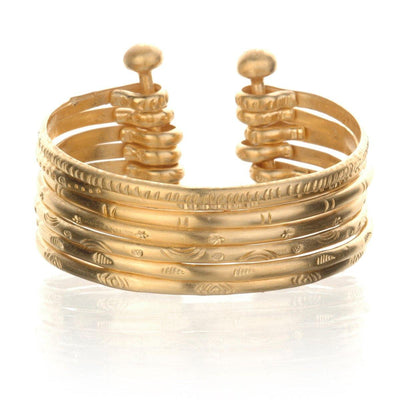 SATYA - Small Gold Bangle Bracelet Cuff - - Das Berlinerzimmer