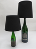 Green Bottle Lamp - GROSS H 75cm, Schirm: ∅ 35cm